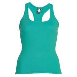 Camiseta entallada verde mar