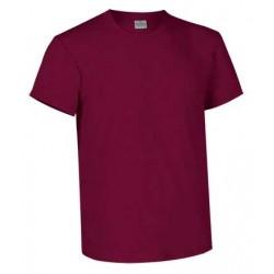 Camiseta Manga Corta Valento Granate